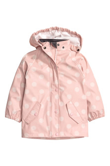Patterned rain jacket